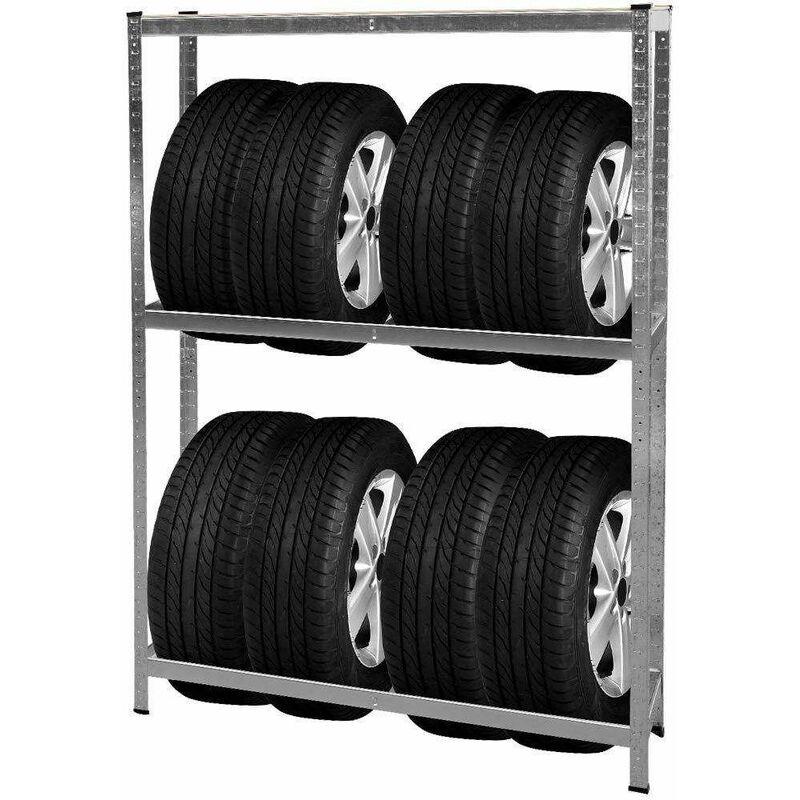 Bc-elec - HMLTJ-3 Etagère de rangements pour roues, rack à pneus, rayonnage à roues, 795kg 180x120x40cm - Gris