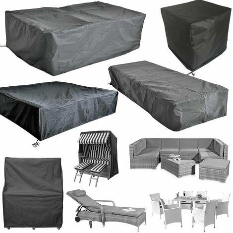 Bc-elec - HMRC-12 Funda protectora para mesas y muebles de jardín, Oxford 210D + tratamiento UV, 125x124x73cm