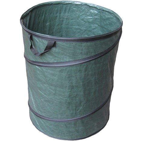 Bc-elec - HMSYD-3 Lot de 2 sacs à déchets de jardin 120L, réutilisables, 53 x 65cm Vert