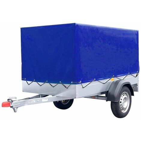 Bc-elec - HMTCT-2 Bâche de remorque bleue, Bâche haute de remorque 210x114x88cm