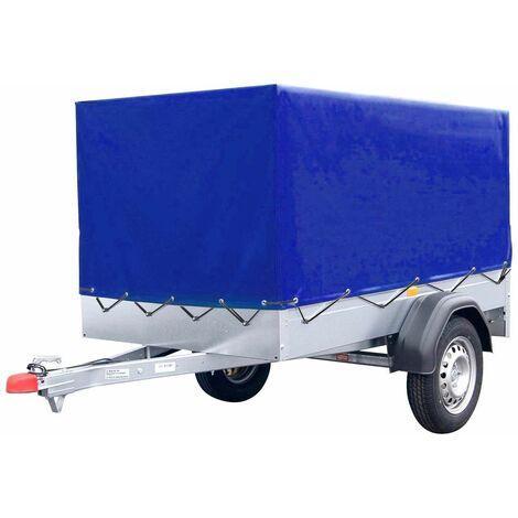 Bc-elec - HMTCT-2 Blaue Anhängerabdeckung, Anhängerplane hochplane mit Gummigurt, Hohe Anhängerabdeckung 210*114x88cm
