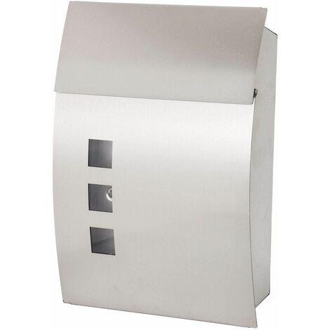 Bc-elec - HPB931N Buzón de diseño en acero inoxidable 35x9.5x45cm + 2 llaves - Grigio