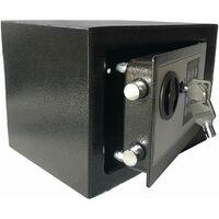 Bc-elec - HSF-17E Coffre-Fort serrure à combinaison digitale + clés 20x17x17 cm