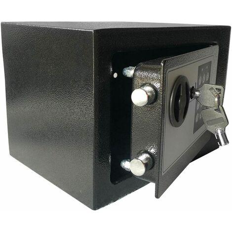 Bc-elec - HSF-17E Coffre-Fort serrure à combinaison digitale + clés 20x17x17 cm - Noir