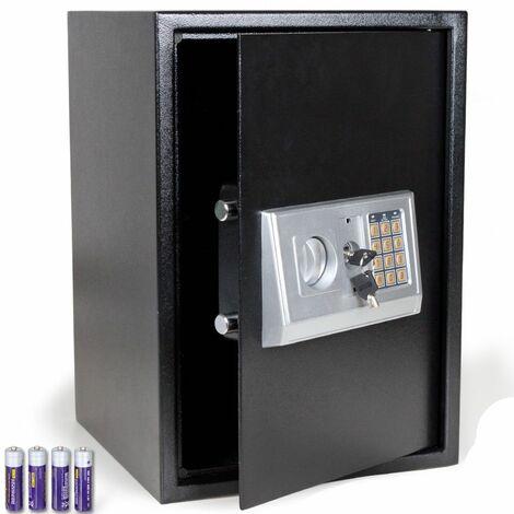 Bc-elec - HSF-50E Caja fuerte con cerradura de combinación digital + llaves 50x35x37cm - Nero