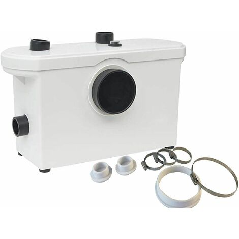 """main image of """"Bc-elec - MP600 Pompe de relevage, Broyeur Sanitaire 600W WC douche - Blanc"""""""