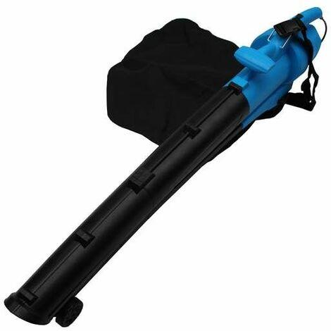 Bc-elec - neelb-02-blue Soplador aspirador triturador colector de hojas para jardín Bolsa 45L 2000W - Blu