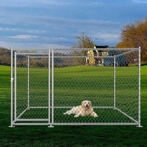 Bc-elec - RA-D22 Parque para cachorros 2x2x1.2m, corral para perros, perrera al aire libre, corral de ejercicio para jaulas de perros - Gris