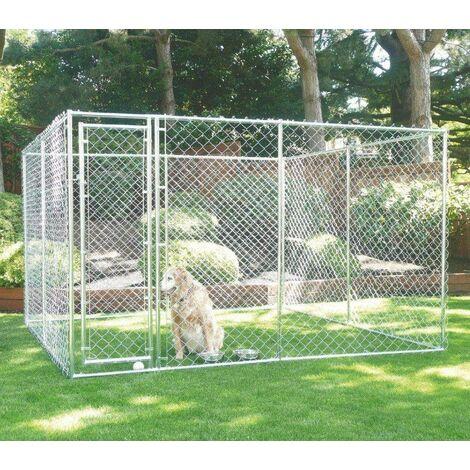 Bc-elec - RA-D33 Parque para cachorros 3x3x1.8m / 1.5x4.6x1.8m, corral para perros, perrera al aire libre, corral de ejercicio para jaulas de perros - Gris