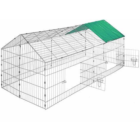 Bc-elec - RC01 Cage à lapins, cobayes et autres, clapier en acier galvanisé 180x75x75
