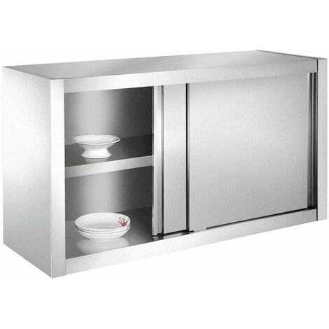 Bc-elec - SSC120 Kitchen cupboard, wall cupboard in stainless steel 120x40x65cm ideal for restaurants, kitchens, canteens.