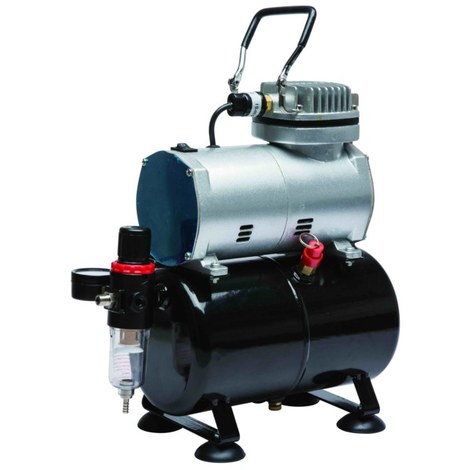 Bc-elec - TC-20T HIGH PERFORMANCE OIL-LESS MINI COMPRESSOR AIRBRUSH COMPRESSOR WITH TANK AS 186