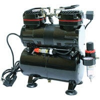 Bc-elec - TC-90T Airbrush twin cylinder compressor 190W 0-4 bar Model AS196 with air tank