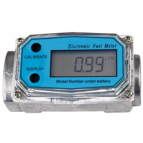 Bc-elec - TP04041 Caudalímetro digital para bomba de combustible con conectores de 1,25''