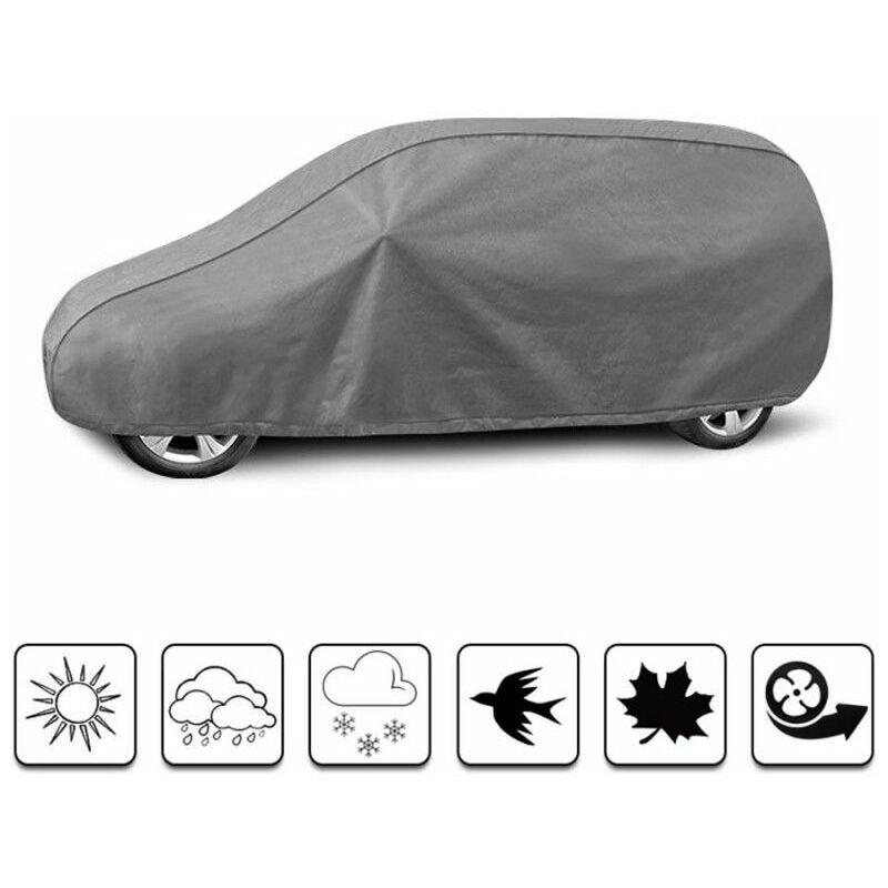 Road Club - Bâche Auto pour VOLKSWAGEN Caddy IV (2015 - 2020) - Gris