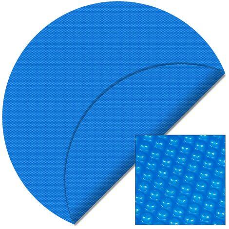 B�che solaire � bulles pour piscine Ronde � 3.6m Bleue Protection Couverture Chauffage de piscine