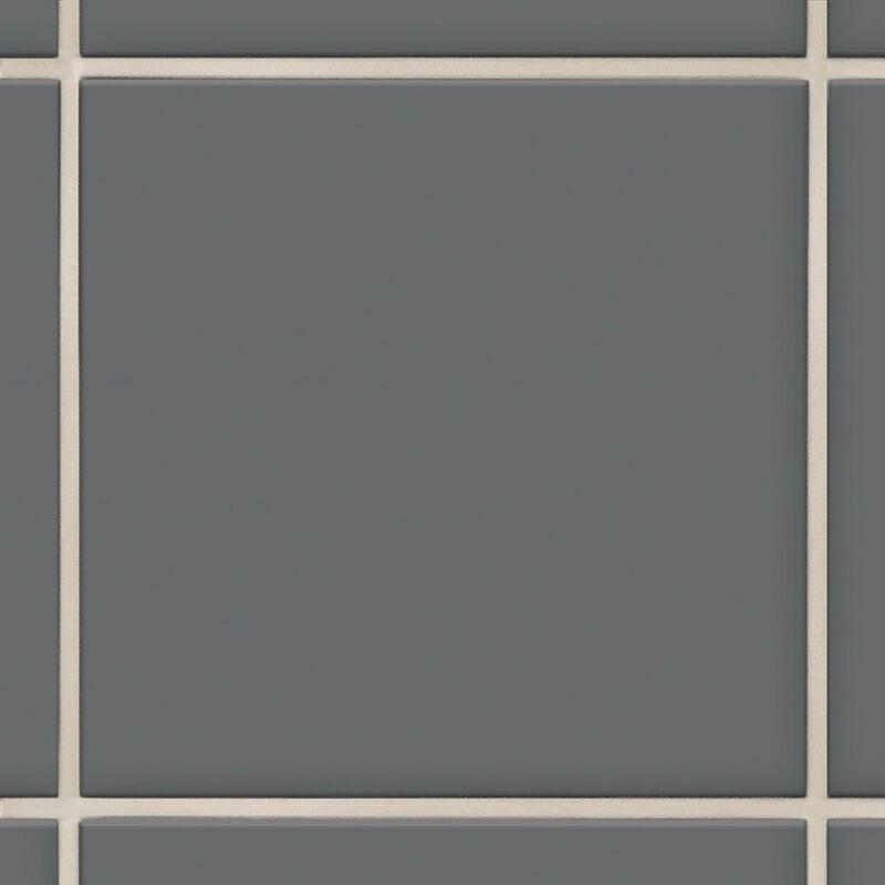 Image of BCT Condo Smoke Grey Gloss 19.8cm x 19.8cm Ceramic Wall Tile - BCT57000