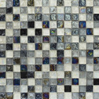 BCT Shades Of Grey Hammered Glass Mosaic 305mm x 305mm Sheet