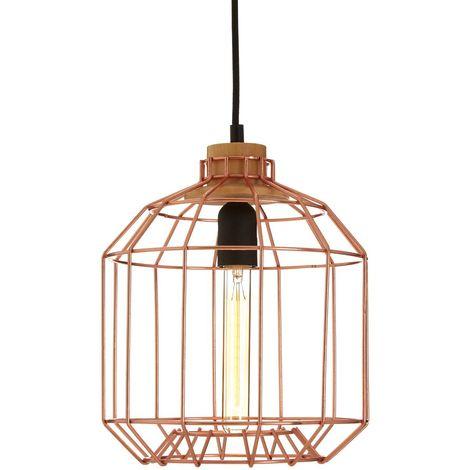 Beacan Pendant Light, Metal Wire, Copper