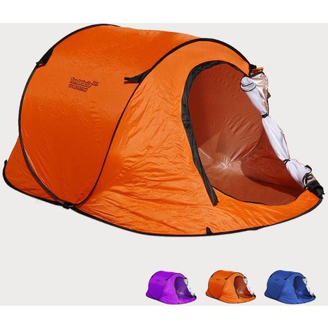 Beach and Camping XXL Shelter with Patented Installation System antiUV Mosquito Net for 3 People TendaFacile