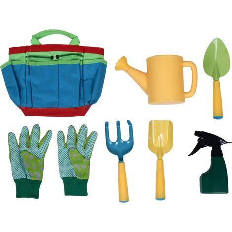 Beach Beach Toys Set Beach Bucket Watering Beach Excavator Rake Garden Gloves Outdoor Toolkit With Girls and Boys Transport Bag