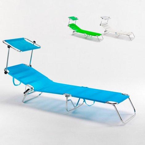Beach bed folding aluminium folding cot swimming CANCUN | Blue