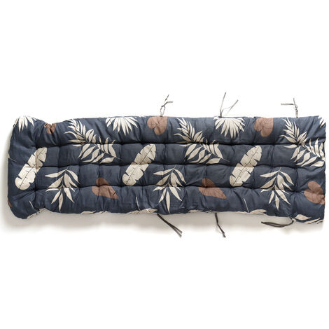 Beach Chair Cushion Thickened Double-sided Folding Chair Cushion 170x53x8cm Dark Blue