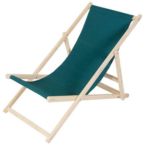 Beach chair - foldable - green