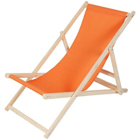 Beach chair - foldable - orange