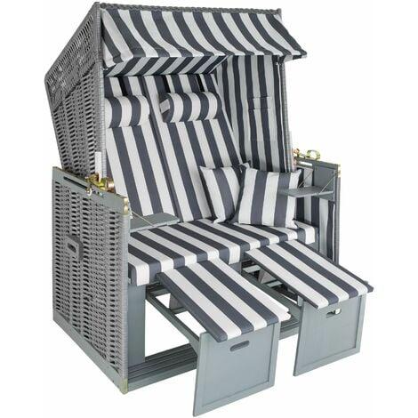 Beach chair with cushion - sun chair, folding beach chair, beach lounger