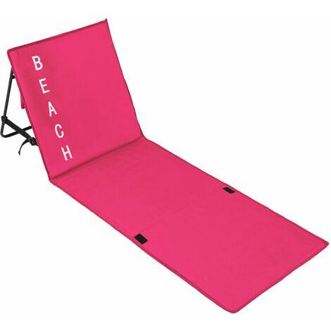 Beach mat with backrest - folding beach chair, folding beach mat, sunbathing mat
