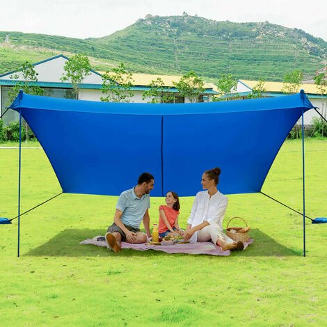 """main image of """"Beach Tent Portable UPF 50+ UV Protection Canopy Sun Shelter W/ Sand Anchor"""""""