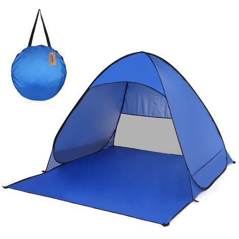 Beach tent sapphire blue