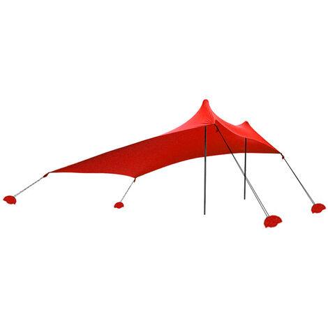 "main image of ""Beach Tent Sun Shade Beach Sun Shelter with Sandbag Anchor for Beach Picnic Fishing Camping"""