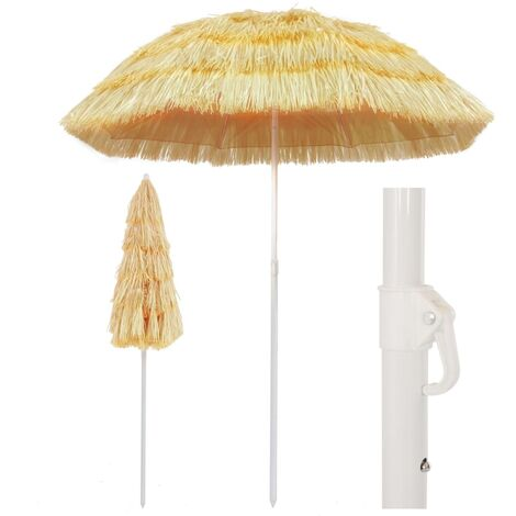 Beach Umbrella Natural 180 cm Hawaii Style