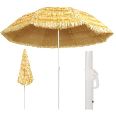 Beach Umbrella Natural 300 cm Hawaii Style