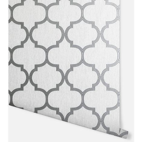 Beaded Trellis Grey Wallpaper - Arthouse - 292805