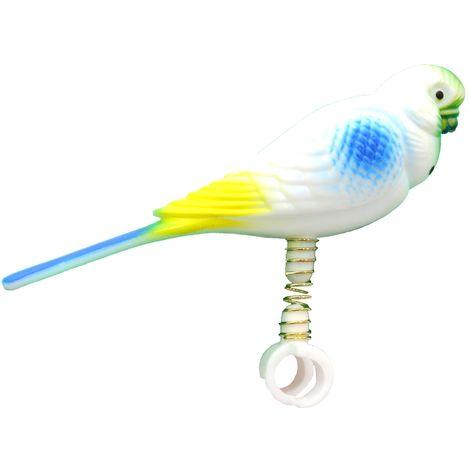 Beaks Parakeet On Spring (One Size) (White)