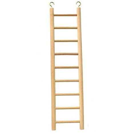 Beaks Wooden Budgie 9 Step Toy Ladder (15 inch) (Beige)