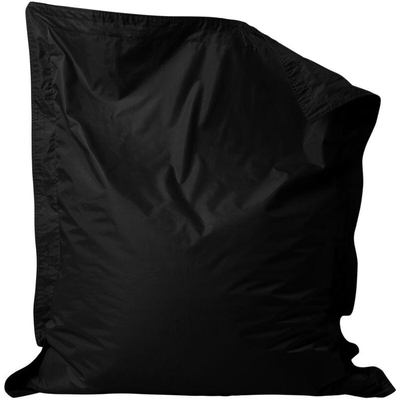 Coussin de Sol pour Pouf Géant, Pouf pour Adultes - Noir, Grand, Poufs d'intérieur et d'extérieur - Noir - Bean Bag Bazaar