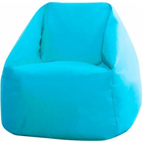Bean Bag Bazaar Mini Fauteuil Crapaud pour Enfants, Pouf pour Enfants - Bleu Turquoise, Petit, Poufs d'intérieur et d'extérieur - Bleu Turquoise