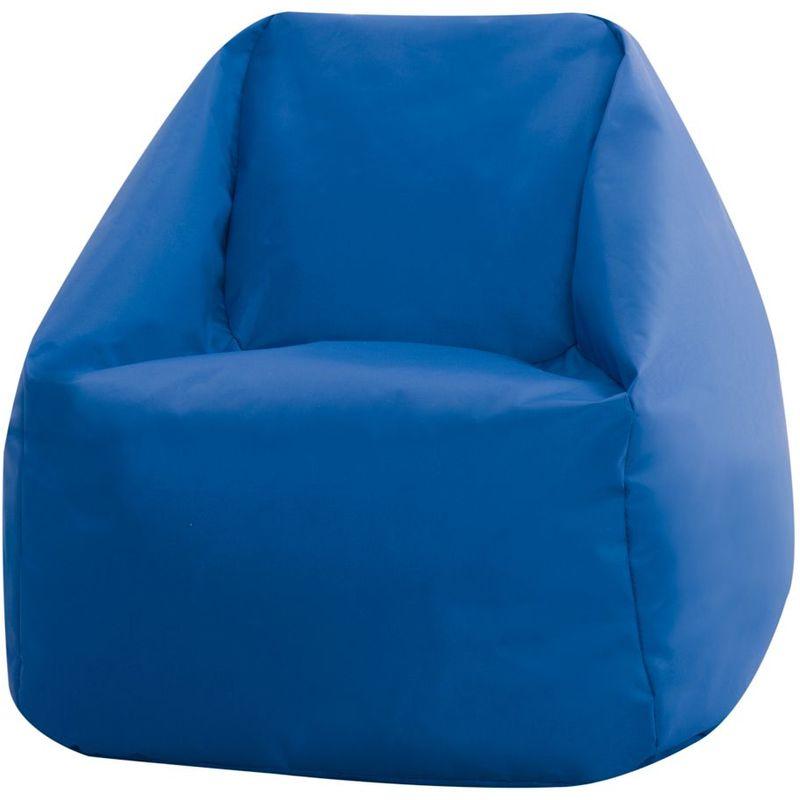 Mini Fauteuil Crapaud pour Enfants, Pouf pour Enfants - Bleu, Petit, Poufs d'intérieur et d'extérieur - Bleu - Bean Bag Bazaar