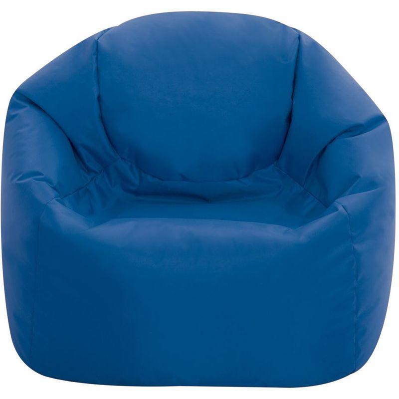 Moyen Fauteuil Crapaud pour Enfants, Pouf pour Enfants - Bleu, Moyen-Grand, Poufs d'intérieur et d'extérieur - Bleu - Bean Bag Bazaar