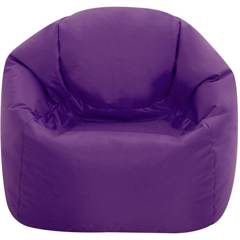 Moyen Fauteuil Crapaud pour Enfants, Pouf pour Enfants - Violet, Moyen-Grand, Poufs d'intérieur et d'extérieur - Violet - Bean Bag Bazaar