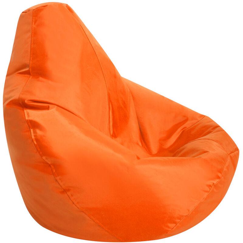 Pouf Spécial Gamer pour Enfants - Orange, Grand - Résistant à l'eau, Poufs d'intérieur et d'extérieur - Orange - Bean Bag Bazaar