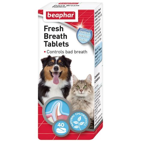 Beaphar Fresh Breath Tablets For Cats And Dogs (40 tablets) (May Vary)