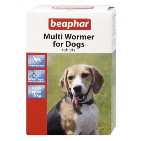 Beaphar Multi Wormer For Dogs (12 Tablets) (One Size) (May Vary)