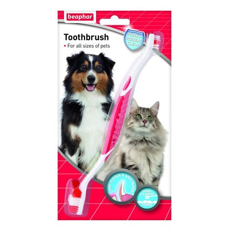 Beaphar Two Ended Dog/Cat Toothbrush (One Size) (May Vary)