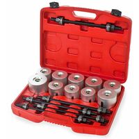 Bearing puller / press 27 PC tool set - bearing puller, bearing press, wheel bearing press - grey