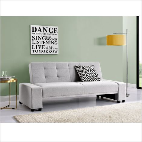 Fine Beatrice Light Grey Fabric 3 Seater Sofa Bed Sleeper Sofa Grey Ocoug Best Dining Table And Chair Ideas Images Ocougorg